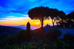 Sunset as seen from Castore Restaurant in Sorrento
