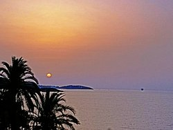 Playa d'en Bossa beach - sunrise