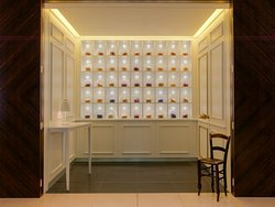 The tea counter outside Blind Spot Bar