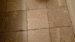 Tile of bathroom floor.