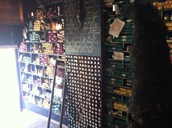 The library of Harry Potter with magic potions is the entrance to this incredible place