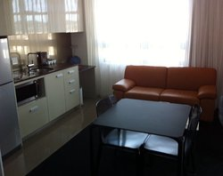 Kitchenette and lounge area