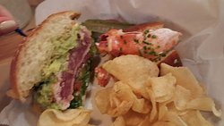 Got 2 sandwiches - Tuna and Lobster Roll