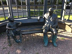 Gunter Grass and Oskar Matzerath Monument