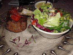 Rump Steak & Side Salad. Bearnaise Sauce