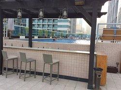 Unused bar, nice pool though