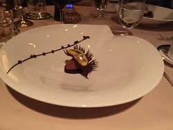 10 course meal at Victoria and Albert's