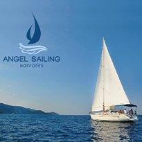 Angel Sailing Santorini