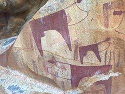 5000年?前の壁画は以外と鮮やか!