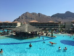 Holiday village Rhodes - great food, fantastic pools, and donkey rides up to the Acropolis in Li