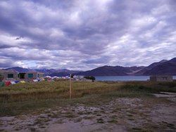 On the lake, easily the best in Pangong.