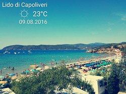 Spiaggia di Lido di Capoliveri all Isola d'Elba