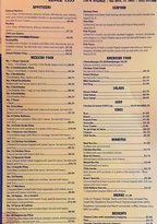 A Small Portion of Chuy's Menu
