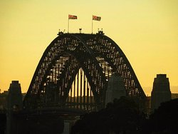 Amazing view of the Harbour Bridge from the balcony.