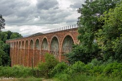 The Leaderfoot Viaduct, also known as the Drygrange Viaduct