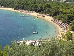 koukounaries beach , view from Skithios palace hotel