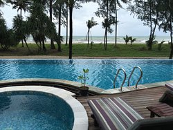 View from our Oceanfront Jacuzzi Villa