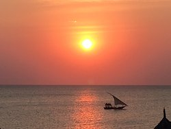 Sunset over Zanzibar taken on an iPhone from our room