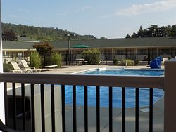 Pool area very clean, beautiful and handicap accessible!