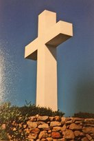 Mount Helix cross in the daytime