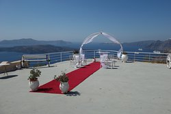 The wedding area