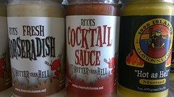 Rita's & River Rat Hot Mustard, Horseradish & Cocktail Sauce