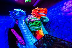 Dragon's Tale Blacklight Mini Golf
