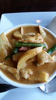 Thai red curry with Chicken -- lunch portion.