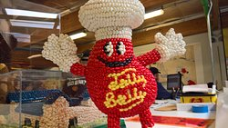 Mr. Jelly Belly waves hello
