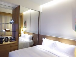 A bit out of the way but comfortable enough and extremely well priced for luxury hotel.