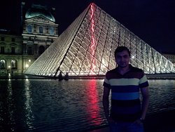 At Louvre museum