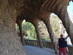 Specific Gaudi architecture in Park Guell