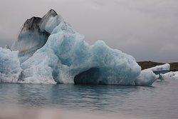 A cave inside an iceberg