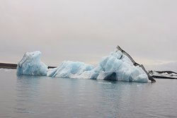 Blue and black iceberg