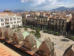 Palermo vista dalla cima della Cattedrale