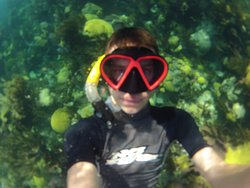 My 16 year old had so much fun with the GoPro diving down to look for fish!