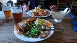 Proper Sunday Carvery, beautifully cooked and served with a smile.