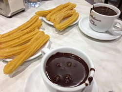 Churros with Spanish hot chocolate