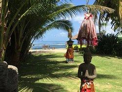 vue depuis le restaurant sur la petite plage