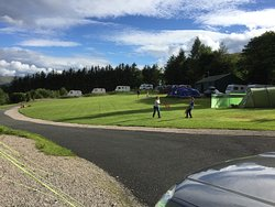 Cove Park, camping and touring caravan area.