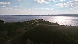 Мыс Стрелка. Слияние рек - Кама и Чусовая.