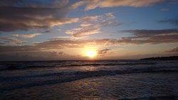 La plage de la parée au coucher de soleil