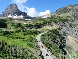 Going to the Sun Road, as seen from Highline Trail