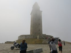 The Tower of Hercules in the mist