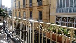 The lovely balcony where breakfast can be taken
