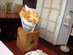 creative presentation of french fries