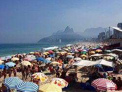 Ipanema on a Saturday. Certainly picturesque and fun but I'd recommend a weekday for peace and q