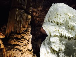 Inside the beautiful cave
