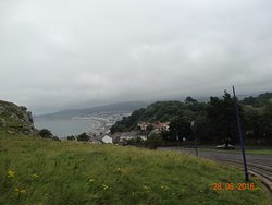 Travelling on Tram up the Great Orme