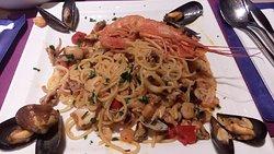 Spaghetti ai frutti di mare senza glutine